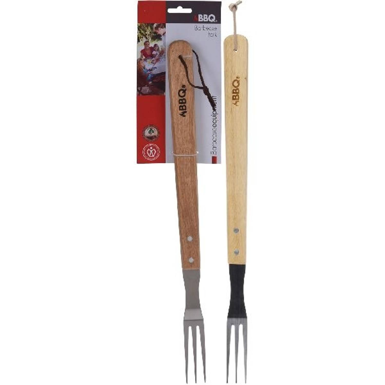 BBQ vork bruin/zilver 46 cm