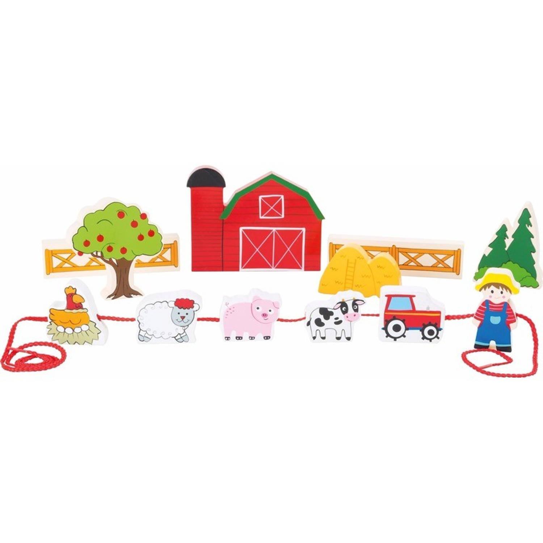 Houten boerderij speelgoed set 13-delig
