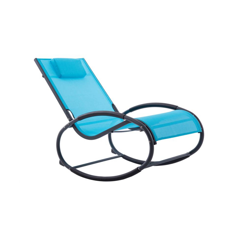 Vivere Wave Rcoker schommelstoel ocean blue