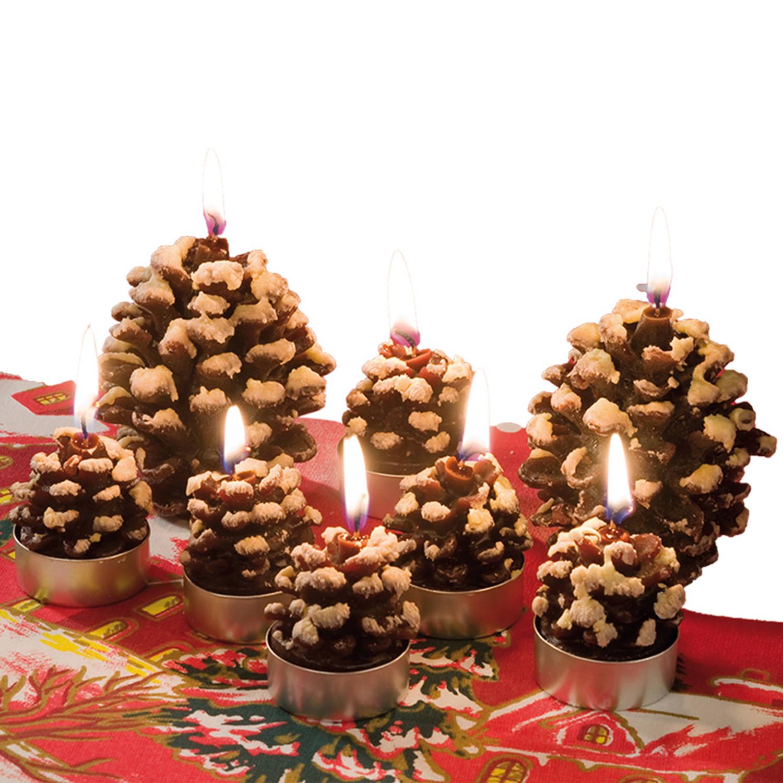 Dennenappel kaarsen 2 stuks