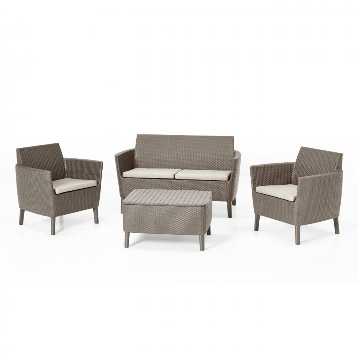 Allibert loungeset Salemo cappucino