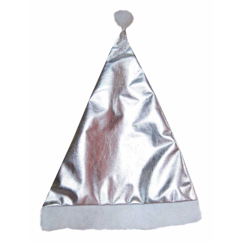 Korting Glimmende Kerstmuts Zilver Voor Volwassenen