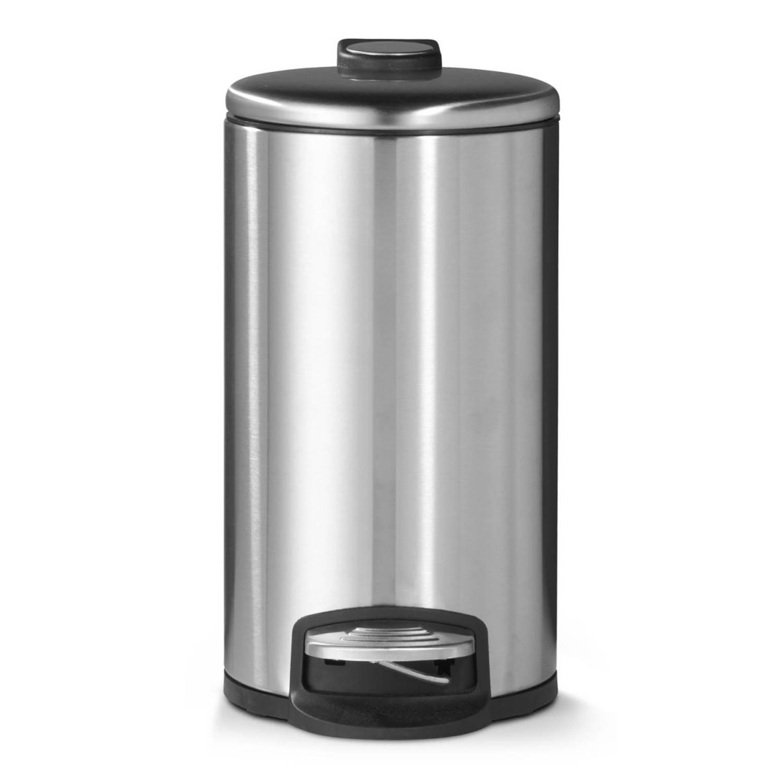 Afbeelding van Blokker pedaalemmer - mat staal - 30 liter