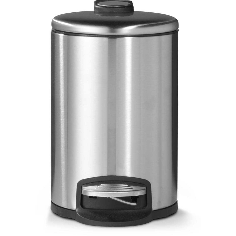 Blokker pedaalemmer - mat staal - 3 liter