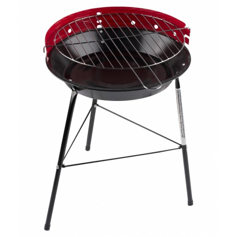 Ronde Barbecue - Grill Rood - 43 X 33 Cm - Voordelige Houtskool Bbq
