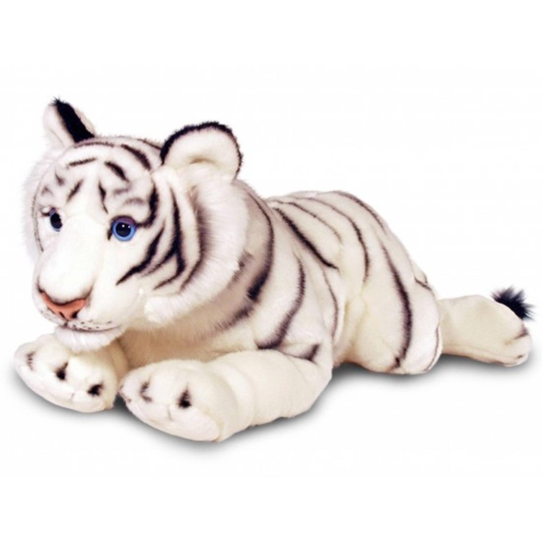 Keel toys pluche witte tijger knuffel 100 cm