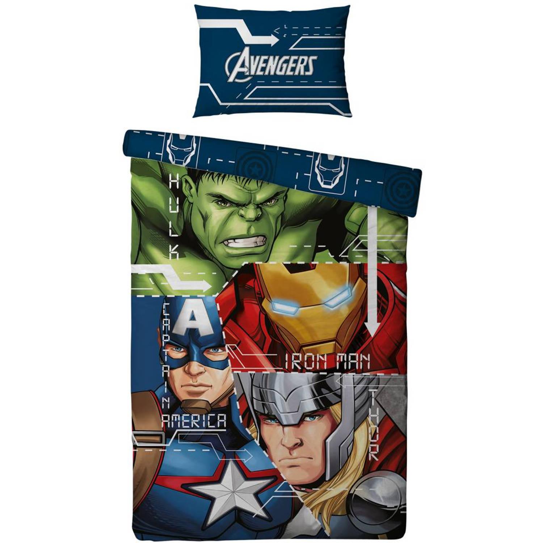 Hulk & Thor - Dekbedovertrek - Eenpersoons - 140 x 200 cm - Multi