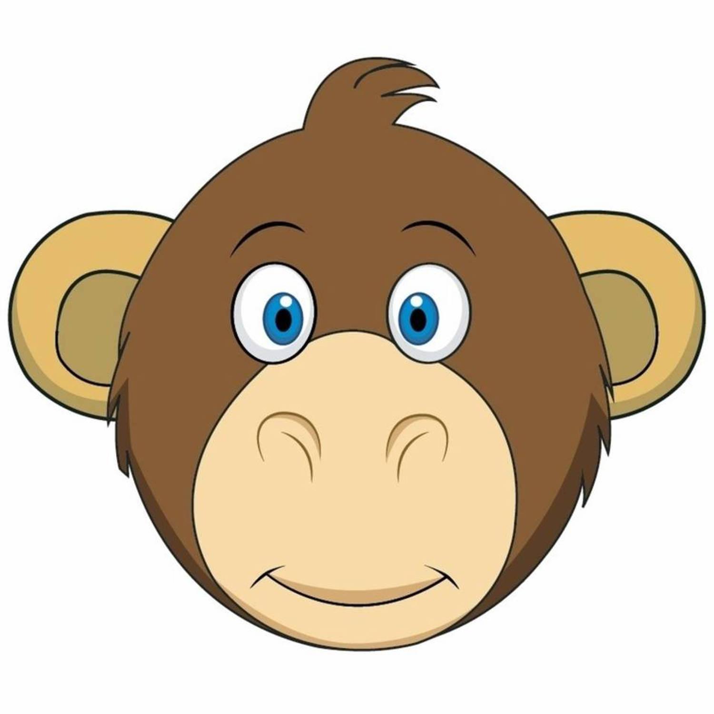kartonnen apen masker voor kinderen blokker