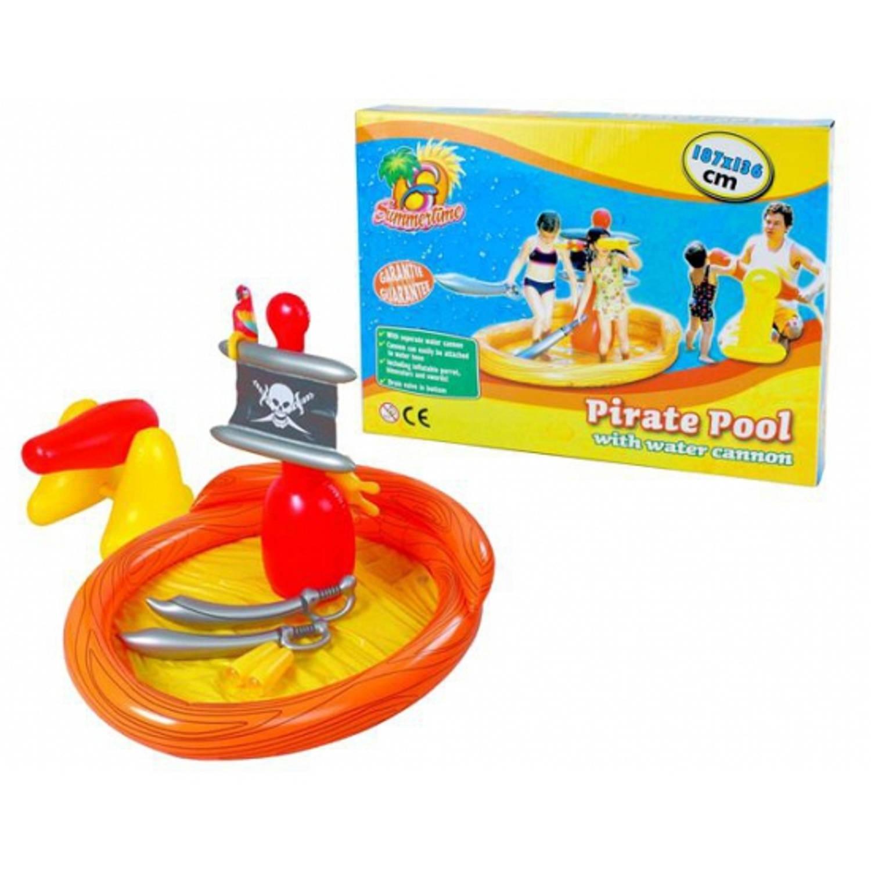 Piraten zwembad met accessoires