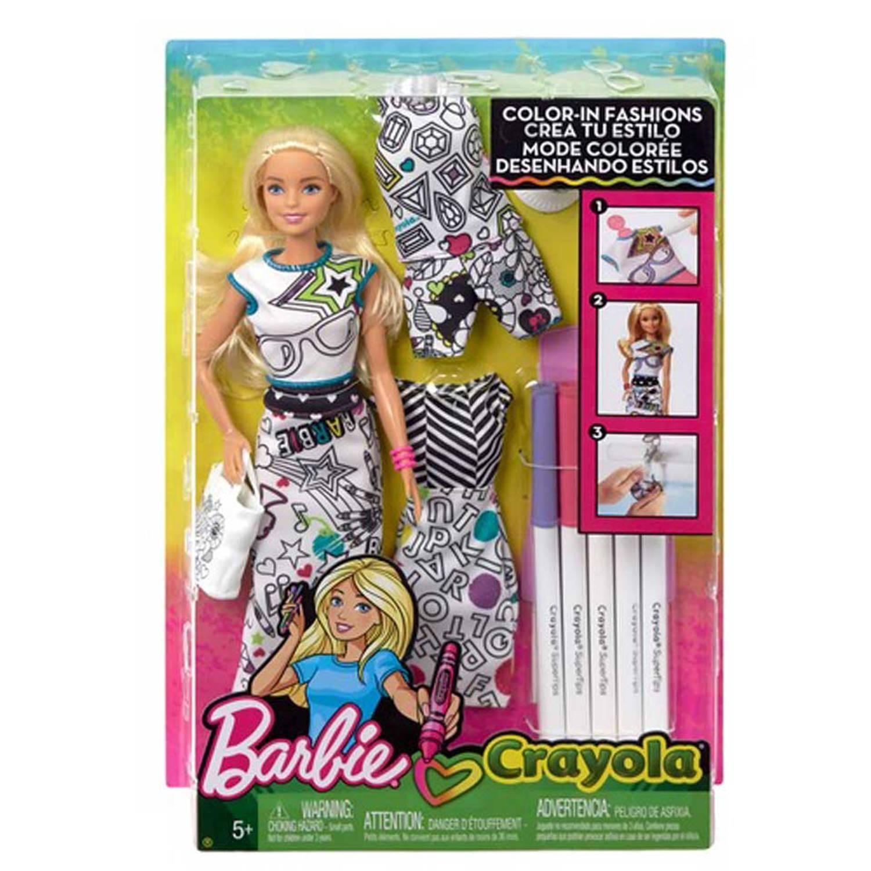 Barbie Crayola inkleurfashions - blond haar