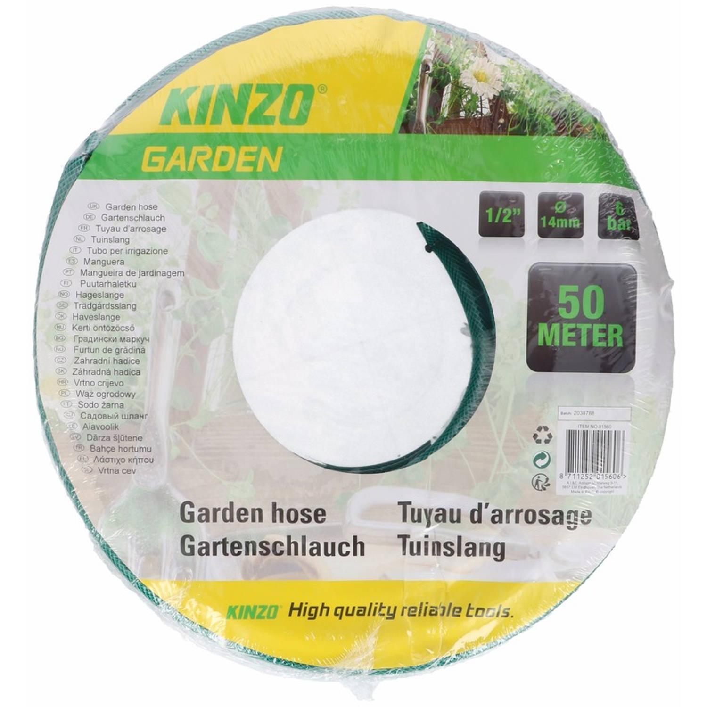Kinzo Tuinslang Groen/zwart 50 Meter - Tuinslangen