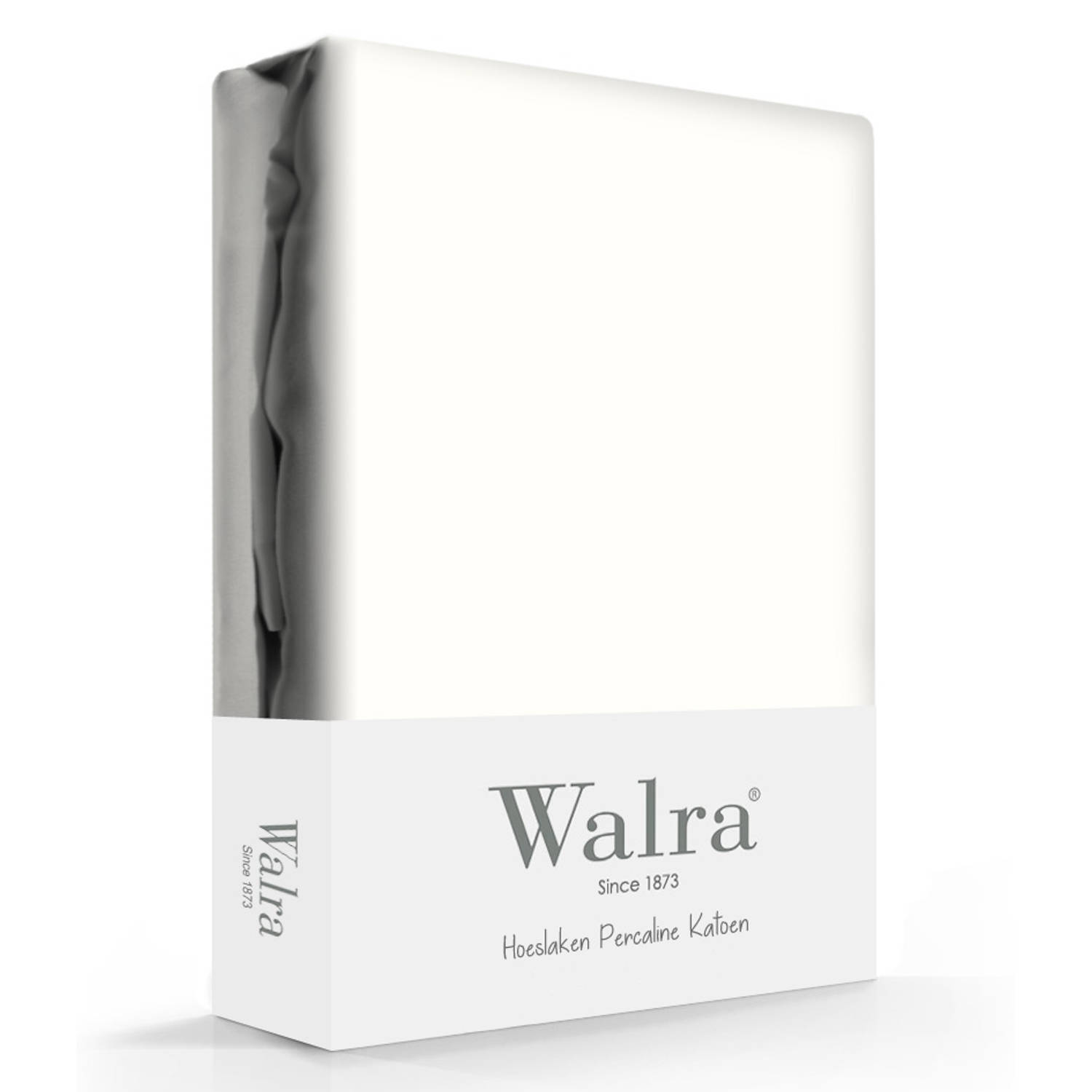Walra Hoeslaken Percale Offwhite-160 x 200 cm