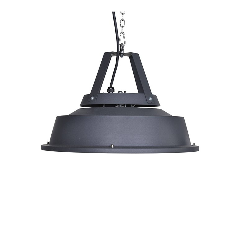 Retro Hangende Heater 43cm Mat Carbon Black/ 1500w