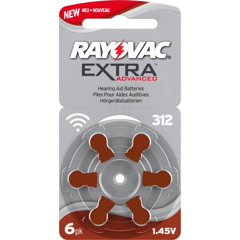 Rayovac Extra Advanced hoorbatterijen Zinc-Air 312A - 6 stuks
