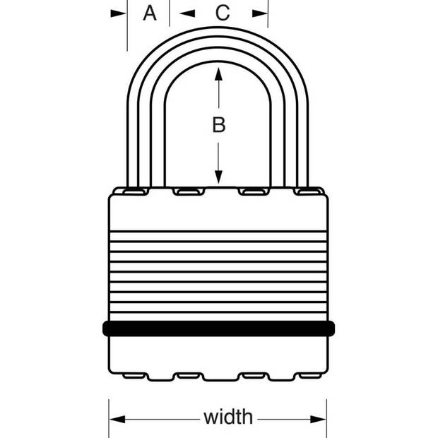 Master Lock Hangslot Excell 2 st 45 mm gelamineerd staal M1EURT