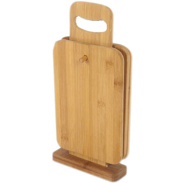 Bamboe snijplankjes aan houder