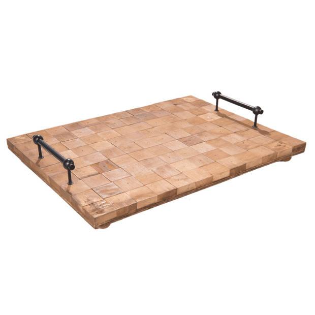 Clayre & eef dienblad 48x36x8 cm - bruin - hout