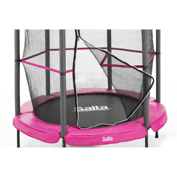 Salta Junior trampoline met net en rand rond - 140 cm - roze