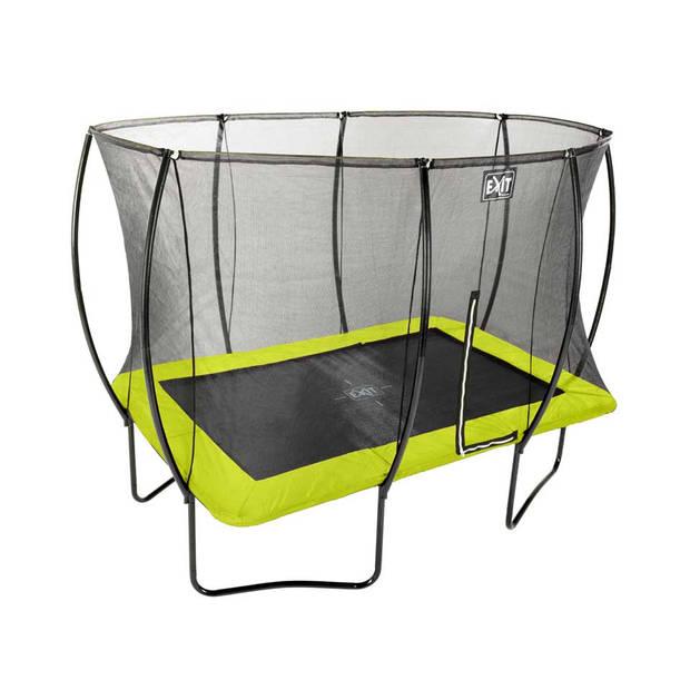 EXIT Silhouette trampoline rechthoekig - 214 x 305 cm - groen