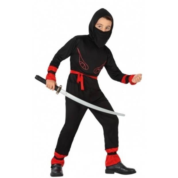 Ninja kostuum voor jongens 128 (7-9 jaar)