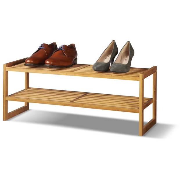 Bamboe schoenenrek