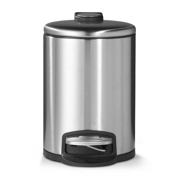 Blokker pedaalemmer - mat staal - 5 liter