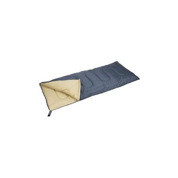 Zomer kampeer 1 persoons slaapzak dekenmodel donker grijs 210 x 85 cm - Kamperen en outdoor artikelen kampeerslaapzakken