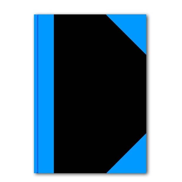 Luxe schriften zwart A5 formaat - harde kaft - 192 paginas met lijntjes