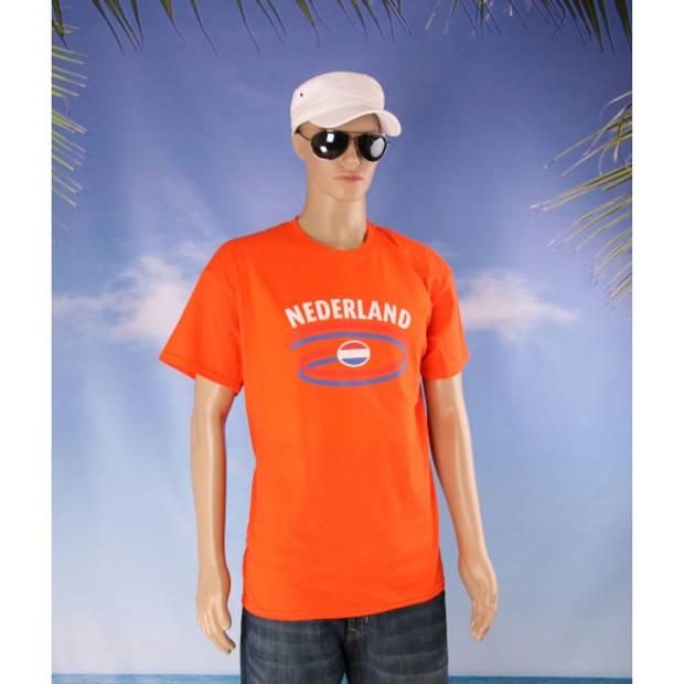 Oranje t-shirt Nederland heren S
