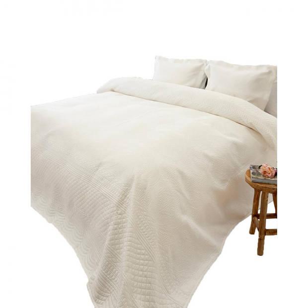 Blokker bedsprei Charlene - creme - 260x250 cm