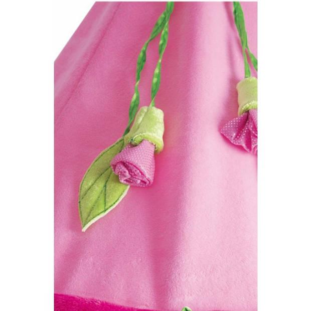 Roze decoratie klamboe met roosjes