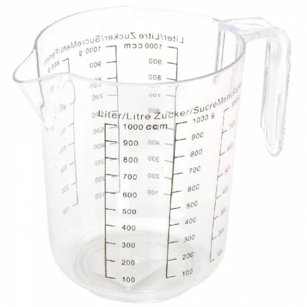 Maatbeker 1 liter transparant
