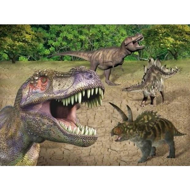 Placemats dinosaurussen 3D print 30 x 40 cm - Onderleggers voor ontbijt, diner of knutselen