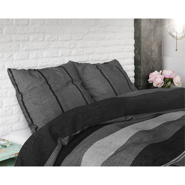 Sleeptime kees grey - dekbedovertrek: 1-persoons (140 cm)