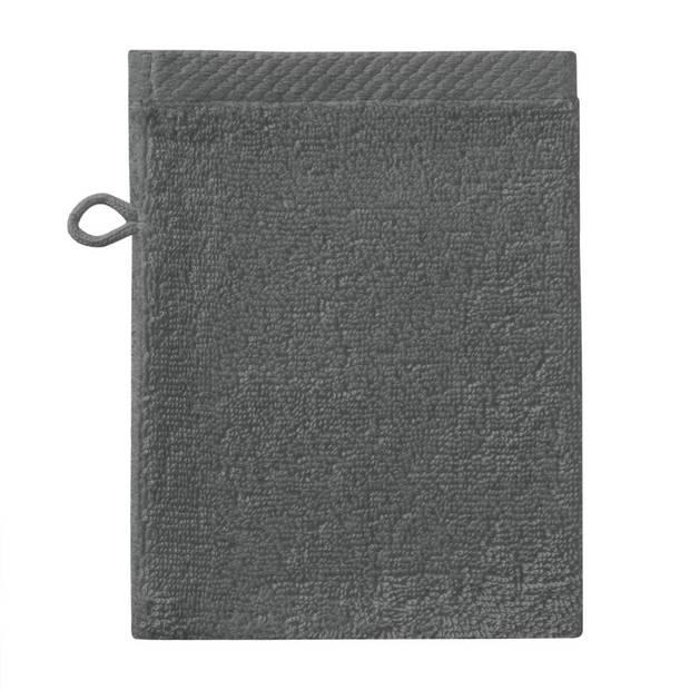 Seahorse Pure washand - 16 x 21 cm - Graphite - 3 stuks