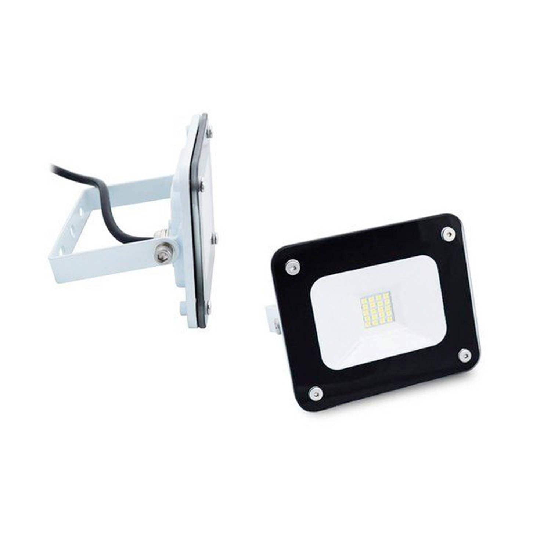 Hofftech Ledstraler 10w - Slim Line Floodlight Ip65 - Moderne Buitenlamp-wit