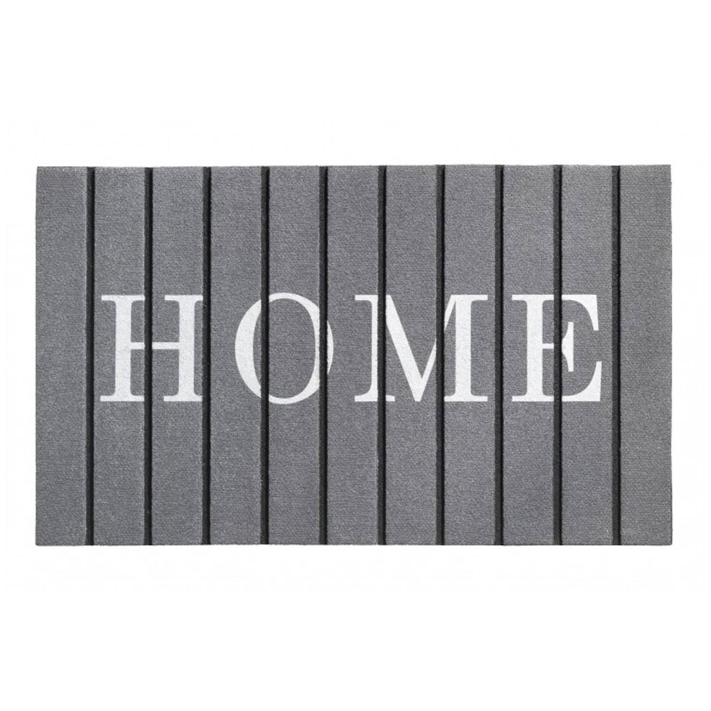 Deurmat Ecomat Welcome planken antraciet 46x76 cm