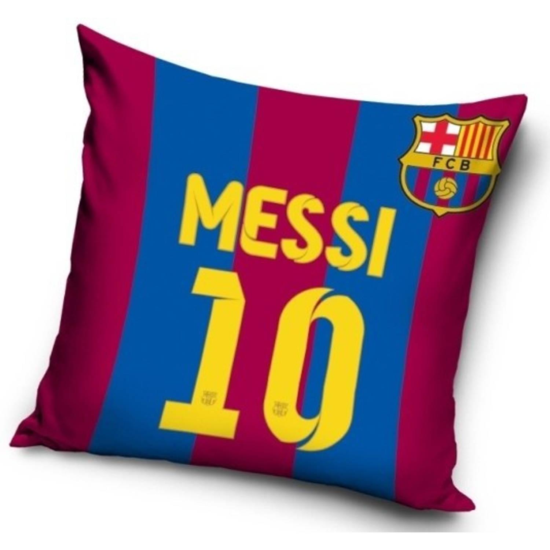 FC Barcelona Kussen Messi 10 40 x 40 cm