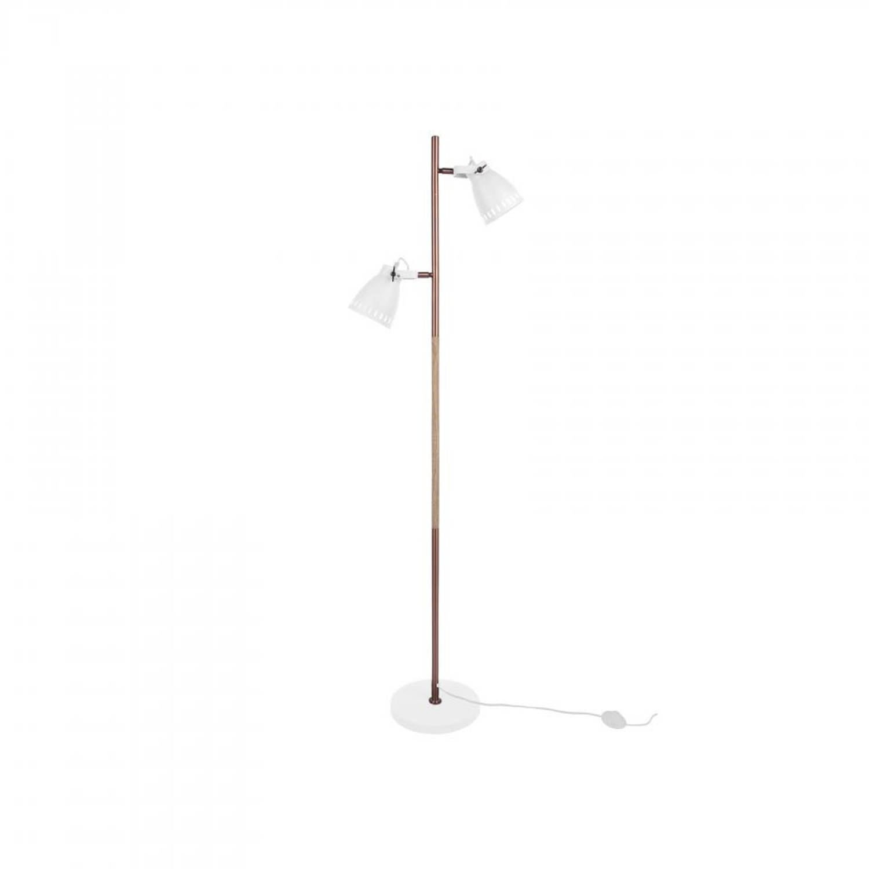 Leitmotiv Vloerlamp Mingle - Metaal - Wit - 152cm