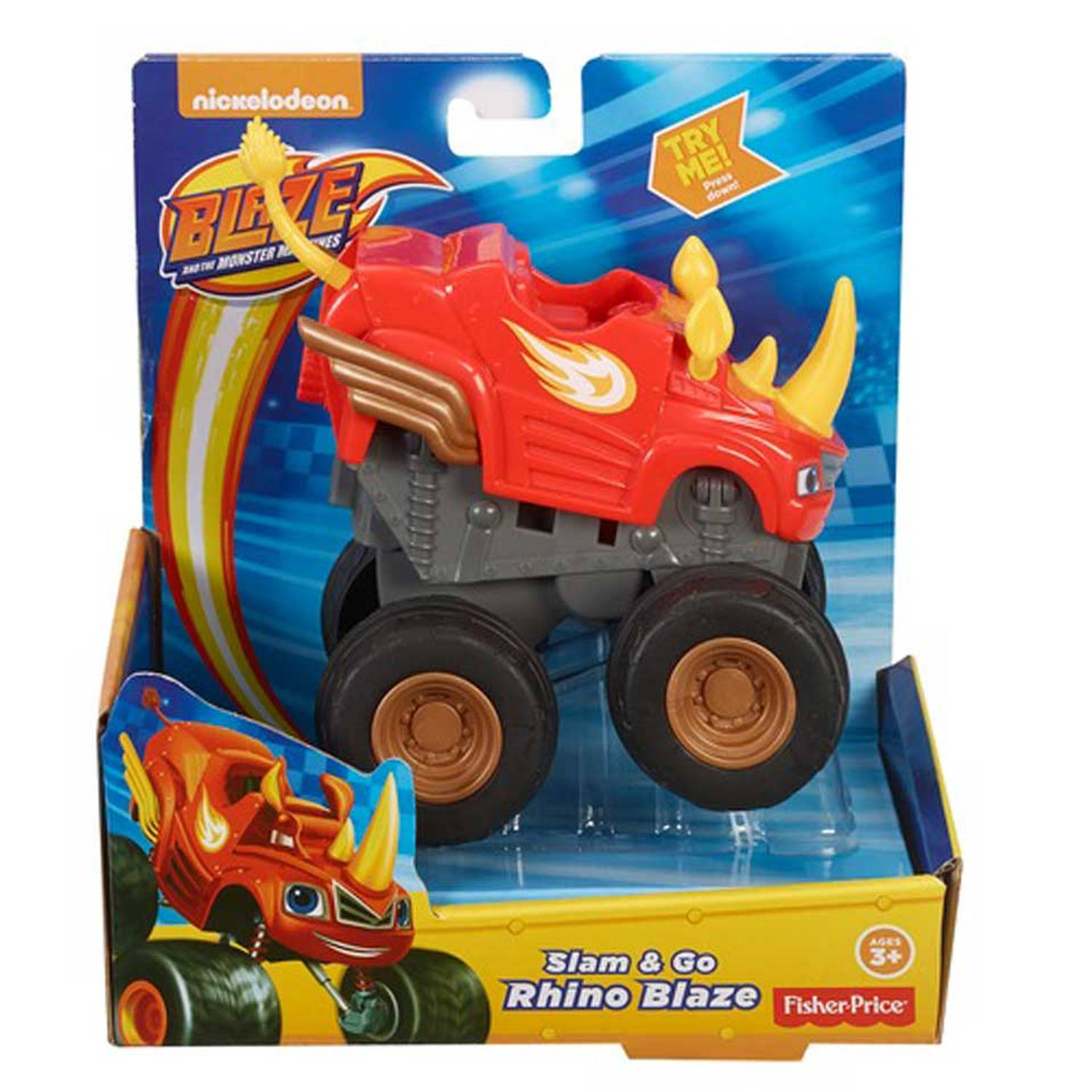 Fisher-Price Blaze en de Monsterwielen Sla & Ga Neushoorn Blaze
