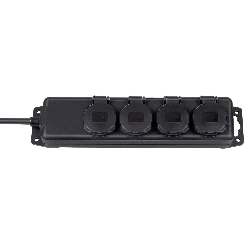 Stopcontactverdeler IP44 4-voudig, 2m