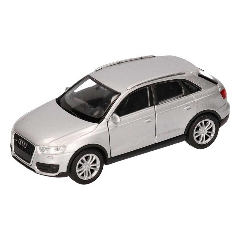 Afbeelding van Speelgoed zilveren Audi Q3 auto 12 cm