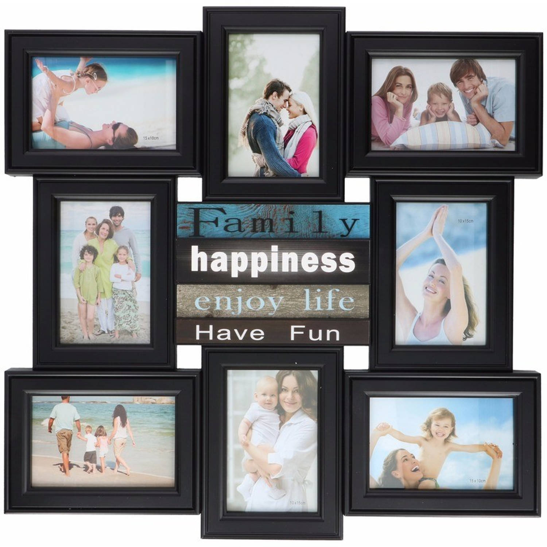 Afbeelding van Multi zwarte fotolijst Enjoy Life 52 x 52 cm