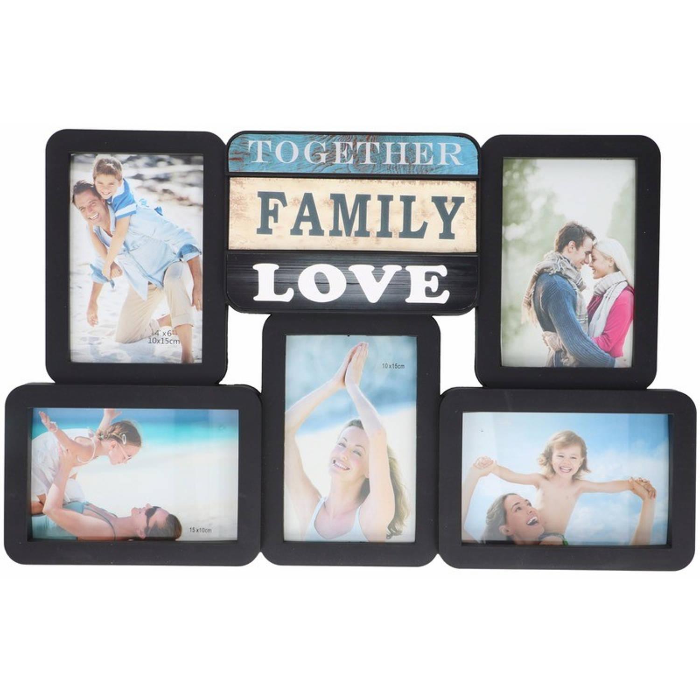 Afbeelding van Multi zwarte fotolijst family love 46 x 29 cm