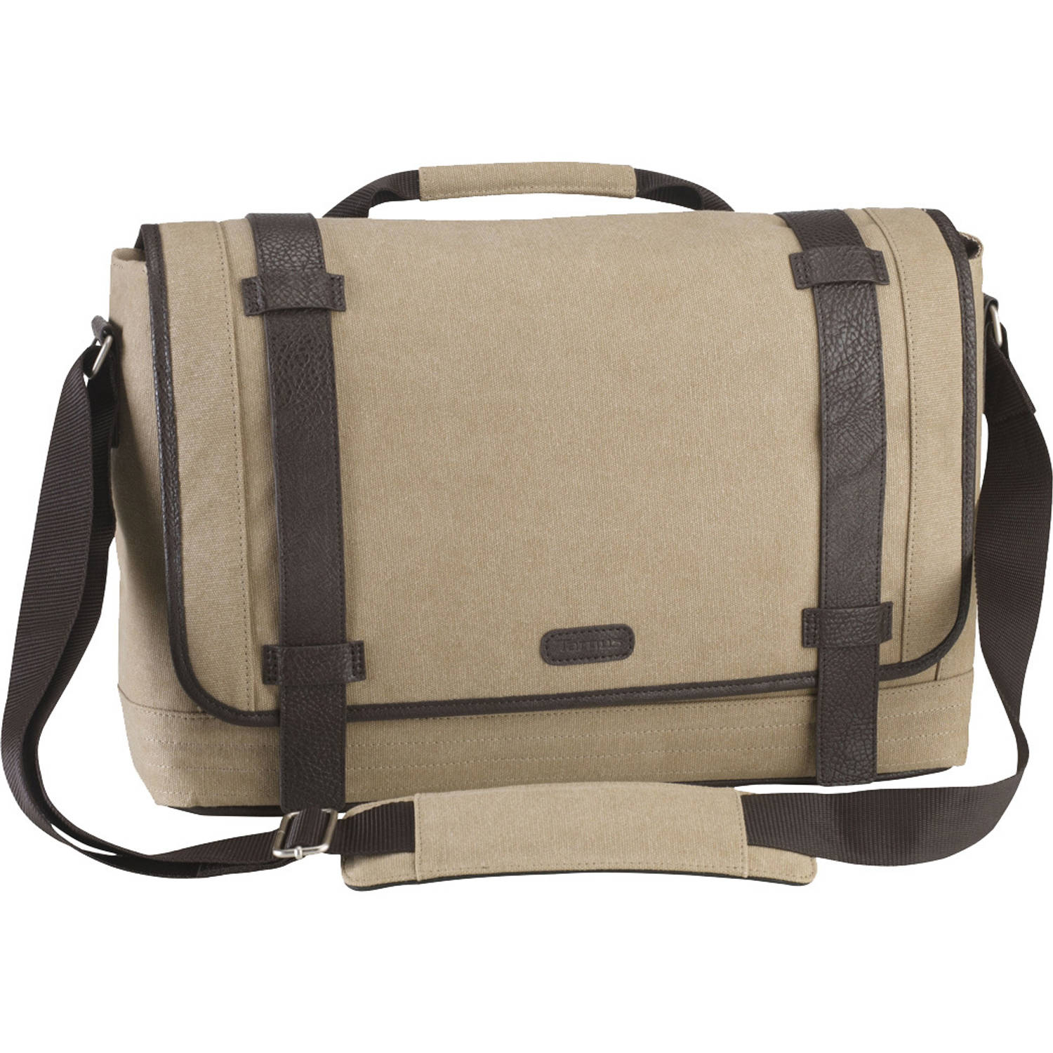 Korting City Fusion 15.6 Canvas Laptop Messenger Bag
