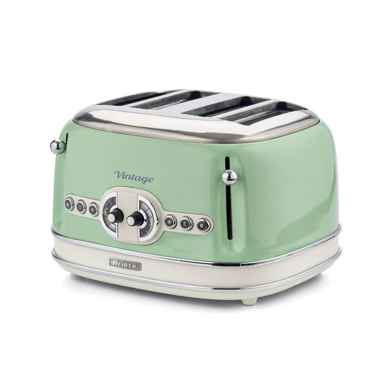Afbeelding van Ariete broodrooster Vintage Retro (4 sleuven) - groen