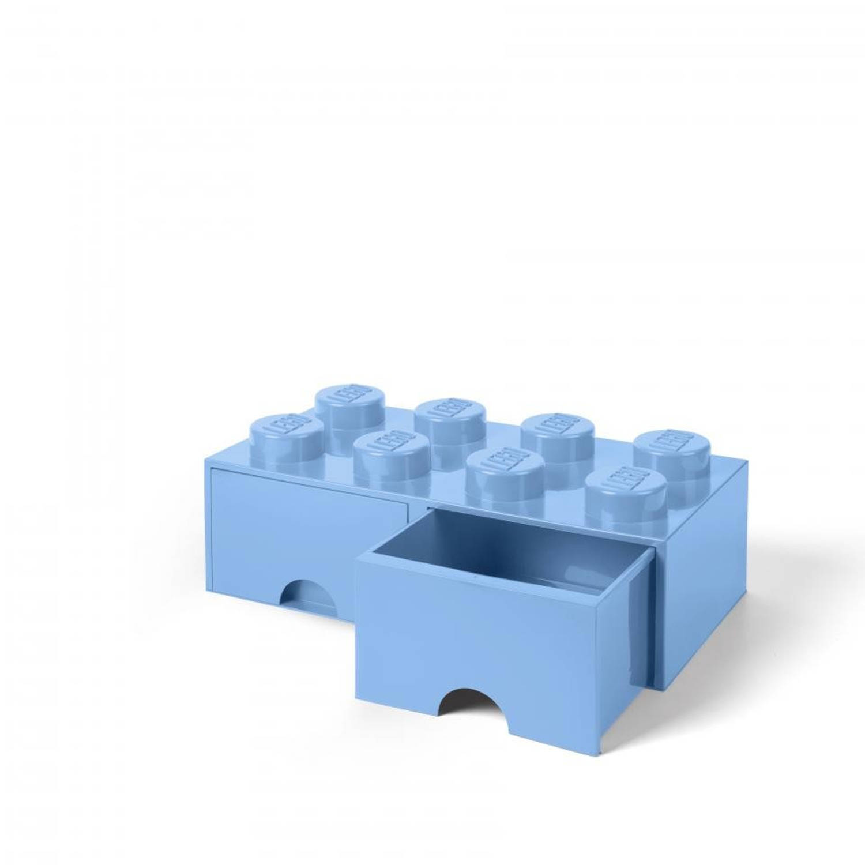 LEGO Brick 8 opberglade - light royal blue