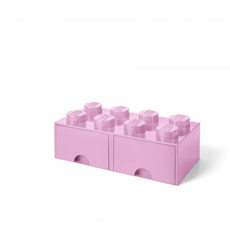 LEGO Brick 8 opberglade - light purple