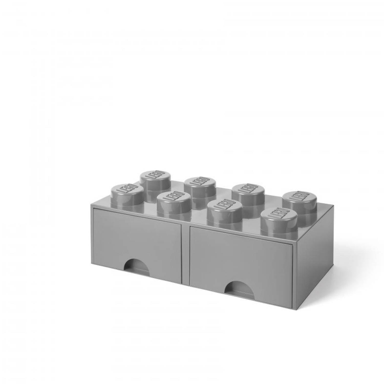 LEGO Brick 8 opberglade - medium stone grey