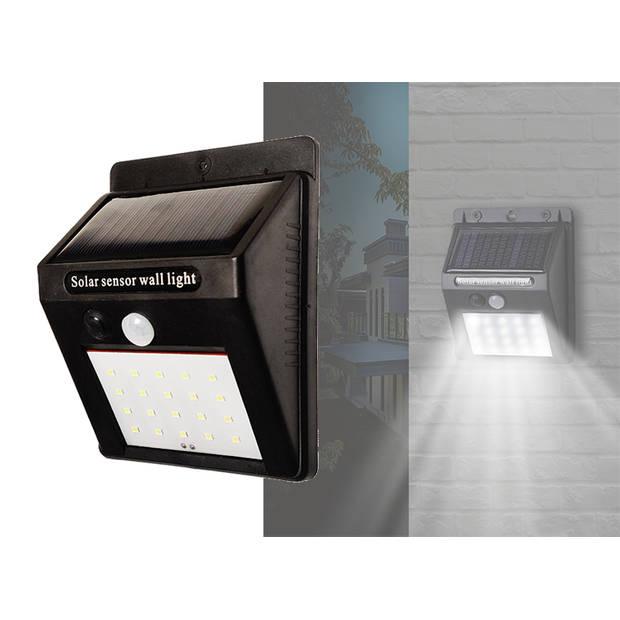 Bellson solar led buitenlamp - IP44 - Zwart